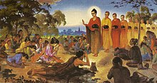 Ascetic Sumedha and Dipankara Buddha