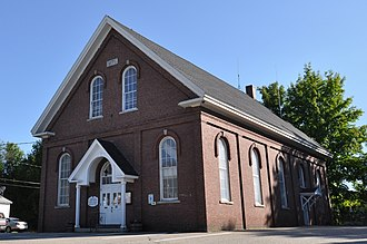 National Register of Historic Places listings in Grafton County, New Hampshire - Image: Ashland NH Town Hall