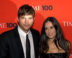 Ashton Kutcher and Demi Moore at the 2010 Time...