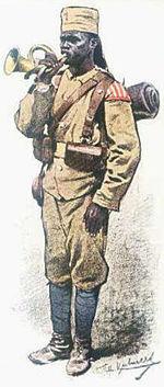 Askari Ostafrika   Planche de Richard Knötel (1914)