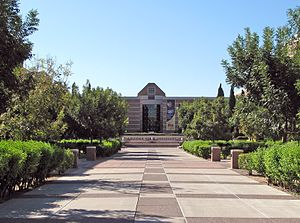 Arizona State University West campus - Main pedestrian mall; Fletcher Library in background