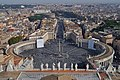 At the top of Papal Basilica of Saint Peter サン・ピエトロ大聖堂より - panoramio.jpg