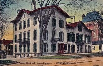 United States Post Office (Canandaigua, New York) - Image: Atwater Hall, Canandaigua, NY