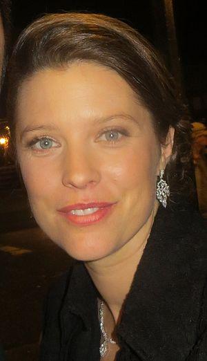 Audrey Marie Anderson - Audrey Marie Anderson on the set of Arrow, January 2015