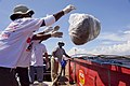 August 7, Work crews toss bagged waste into bins (4900856073).jpg