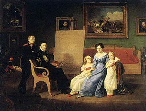 Auguste-Joseph Desarnod - The Artist and His Family