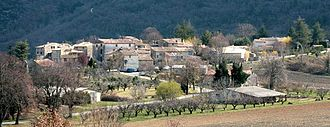 Auribeau - A view of the village of Auribeau