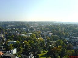 Ein Ausblick über Bergisch Gladbach in Richtung Bergisch Gladbach-Herkenrath (Norden), aufgenommen am 12.10.2005 aus dem Marienkrankenhaus Bergisch Gl...