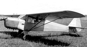 Taylorcraft Auster - prewar Taylorcraft C/2, impressed by the RAF in September 1941, seen postwar