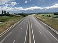 Autoroute A406 vue depuis Pont Route D933 Crottet 3.jpg