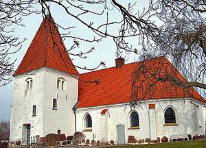 Avnede Church - Avnede Church, Lolland