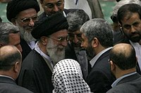 Ayatollah Ali Khamenei at the 3rd International Conference on Quds and Protecting the Rights of the Palestinian People 29 (cropped).jpg