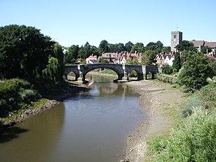 Medieval bridge over the River Medway at Aylesford