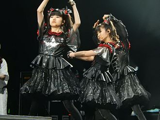 Kawaii metal - Kawaii metal pioneers Babymetal, performing in the O2 Arena London in 2016.