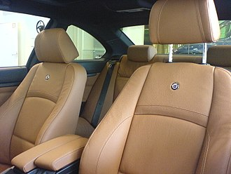 Car seat - Front bucket seats in a BMW Alpina