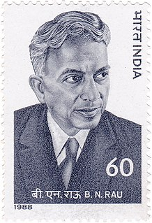 B. N. Rau Indian civil servant and jurist (1887-1953)