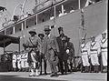 BRITISH HIGH COMMISSIONER ARTHUR WAUCHOPE, ATTENDING THE OPENING CEREMONY OF THE NEW HAIFA PORT. הנציב העליון, ארתור ווקוף, משתתף בטקס פתיחת נמל חיפה.D836-070.jpg