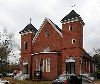 National Register of Historic Places listings in Butler County, Alabama - Image: BUTLER CHAPEL A.M.E. ZION CHURCH, GREENVILLE, BUTLER COUNTY