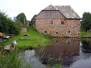 Water mill at Babrungenai village