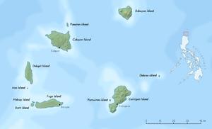 Lage von Fuga Island