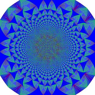 Abelian sandpile model - 28 million grains dropped.