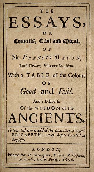 Bacon great essayist