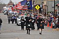 Bagpipes lead the Leavenworth County Veterans Day Parade.JPG