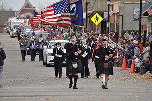 Leavenworth, Kansas - Leavenworth County Veterans Day Parade takes place every year in downtown Leavenworth