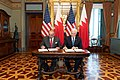 Bahrain's Crown Prince signs the purchase of Patriot missile.jpg