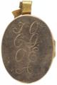 Baksida av guld, därpå graverat J. O. C. G. O. E. A. (Josefina, Oskar - Livrustkammaren - 97851.tif