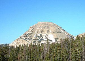 Bald Mountain (Uinta Range) - The east face of Bald Mountain.