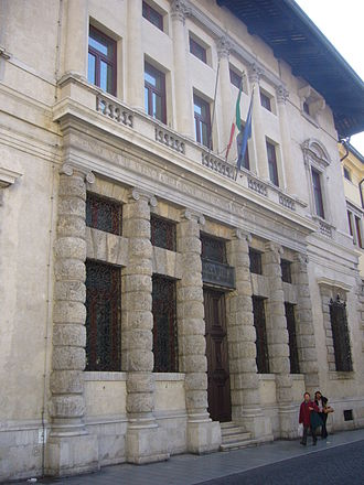 Palazzo Antonini, Udine - Detail of the façade