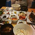 Banchan in South Korea 3 and fried fish.jpg