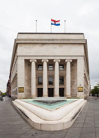 Croatian National Bank - Palace of the Croatian National Bank in Zagreb