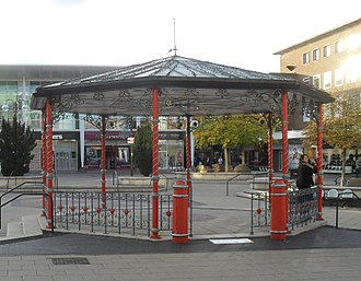 Gatwick Racecourse - The racecourse bandstand, now in Queens Square, Crawley