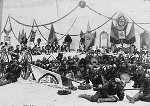 National Army of Colombia - Colombian Troops in a banquet during the Thousand Days War