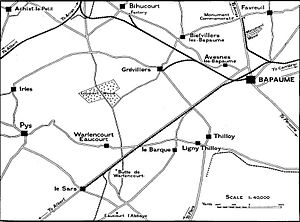 Second Battle of Bapaume - Bapaume and surrounds, August 1918
