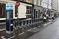 Barclays Cycle Hire Fitzrovia Wells Street docking station 2.jpg