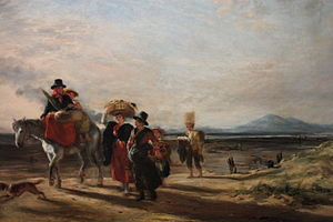 Barmouth - Barmouth Sands by William Collins, 1835, Guildhall Gallery, London