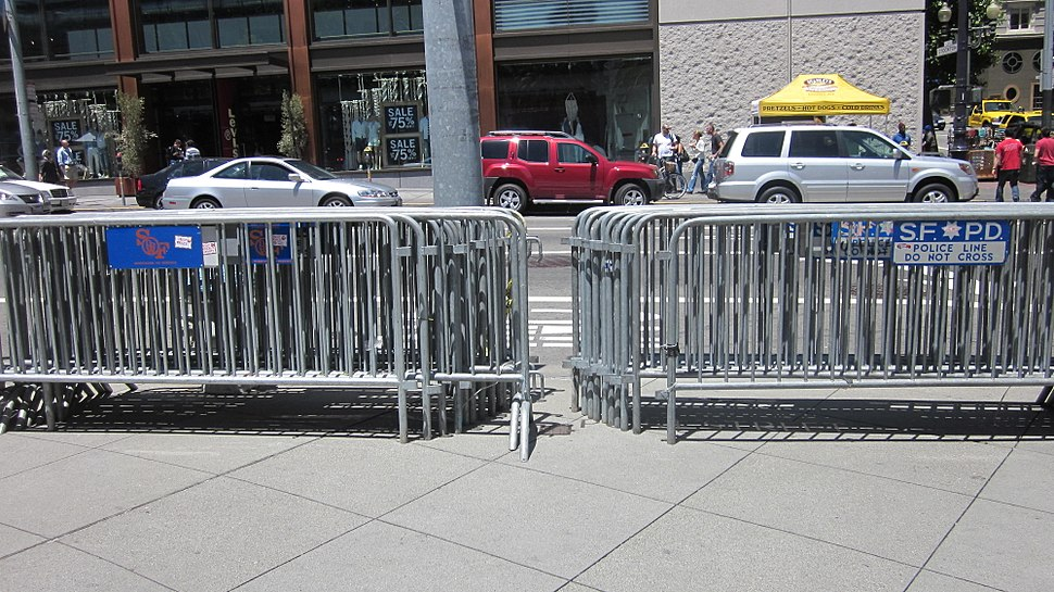 Barricades at Union Square, SF