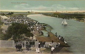 Barwon River (Victoria) - The Barwon River, pictured in 1907