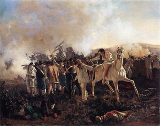 Battle of San Cala - Batalla de San Cala, óleo de Juan Manuel Blanes, 1875