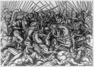Skanderbeg - A woodcut of the battle of Varna in 1444