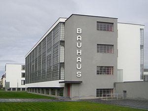 Weimar culture - Bauhaus Dessau, built from 1925 to 1926 to a design by Walter Gropius who founded modern architecture.