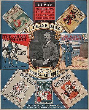 """Promotional Poster for Baum's """"Popular Books For Children"""", 1901."""