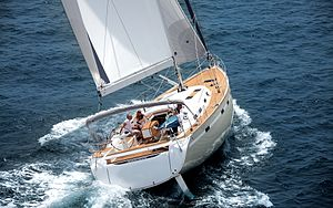 Bavaria Yachtbau - The Bavaria 55 is amongst the largest models; here it is shown close-hauled.