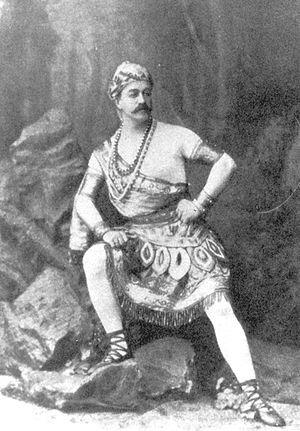 La Bayadère - Lev Ivanov costumed as Solor for Act I of La Bayadère. St. Petersburg, 1877.