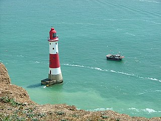 Beachy Head Lighthouse lighthouse at Eastbourne, East Sussex, England