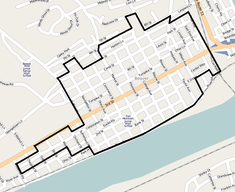 Beaver Historic District map.png