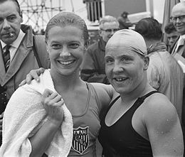 Becky Collins and Tineke Lagerberg 1961.jpg